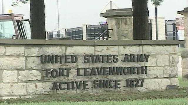 Fort Leavenworth prison sign - 13498944