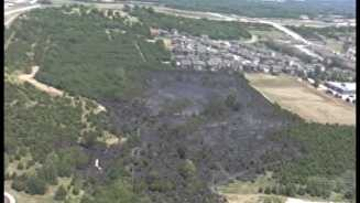 Lawrence grass fire