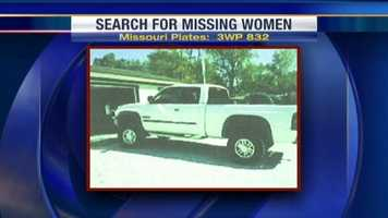 This is a picture of what the missing white truck looked like. The truck was found over the weekend, but the women were not with the truck.
