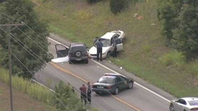 Platte City carjacking chase, crash scene