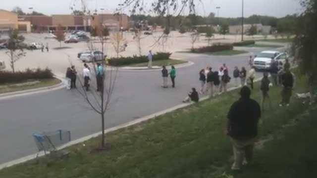 Image Raytown Walmart evacuated