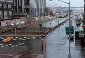 Water reaches the street level of the flooded Battery Park Underpass, Tuesday, Oct. 30, 2012, in New York. Superstorm Sandy arrived along the East Coast and morphed into a huge and problematic system, putting more than 7.5 million homes and businesses in the dark and causing a number of deaths.