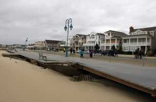 An aerial look at damage caused by Hurricane Sandy.