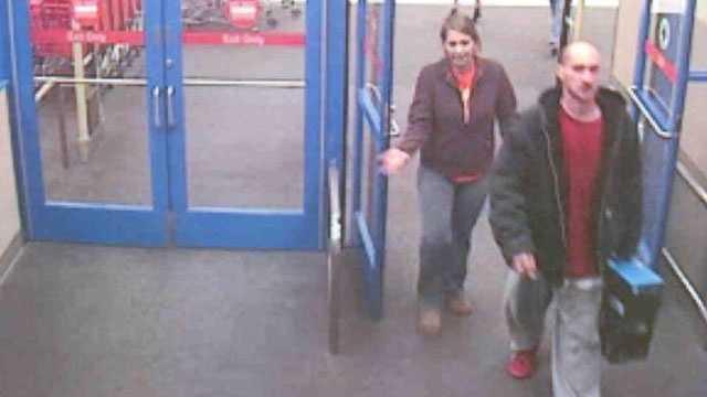 Image Man, woman leave Target store
