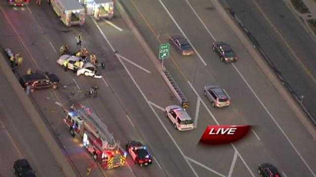 Interstate 35 rollover crash