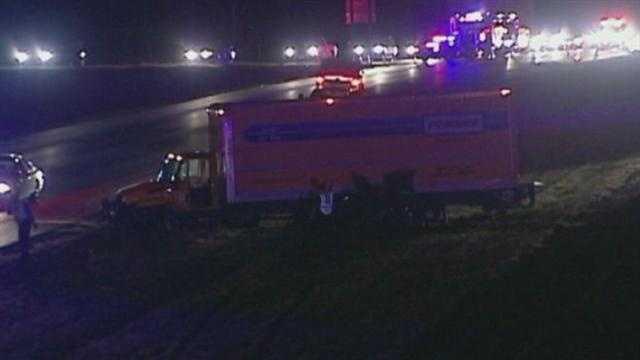 Image Moving truck crash