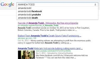 7) Amanda Todd: Todd, a Canadian teenager, committed suicide in Oct. 2012 after being bullied.
