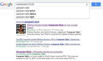 8) Gangnam Style: A song by South Korean artist PSY.