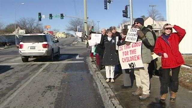 Group holds march to stop gun sales