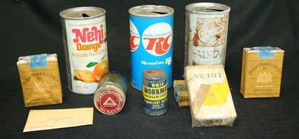 Several old items were recently found at Kansas City Police headquarters during a renovation. The items included cans of soda, packs of cigarettes and business cards.