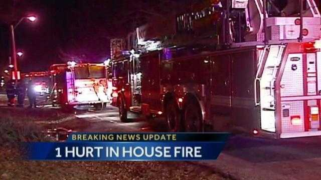 1 injured in early morning house fire on Madison Avenue