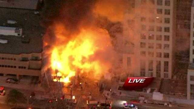 Image Fire near plaza