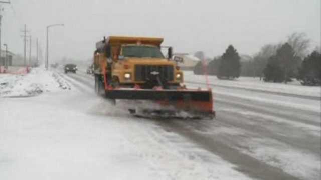 Winter storm, plow