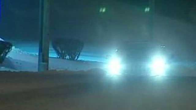Image Snow scene night