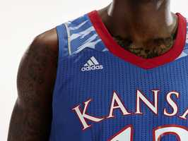 What the front of the new Kansas post-season uniforms will look like.