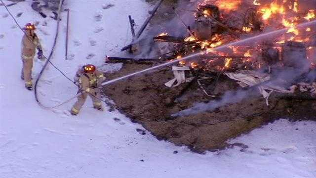 Image Rural House fire