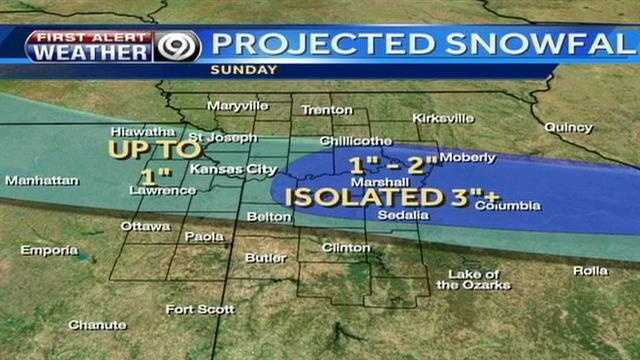 Updated snowfall totals