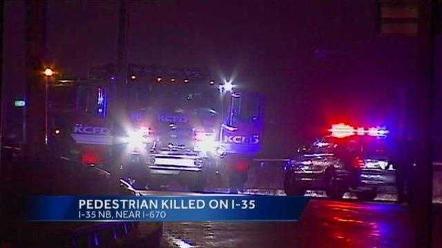 Pedestrian killed on I-35