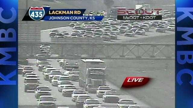I-435 crash backup