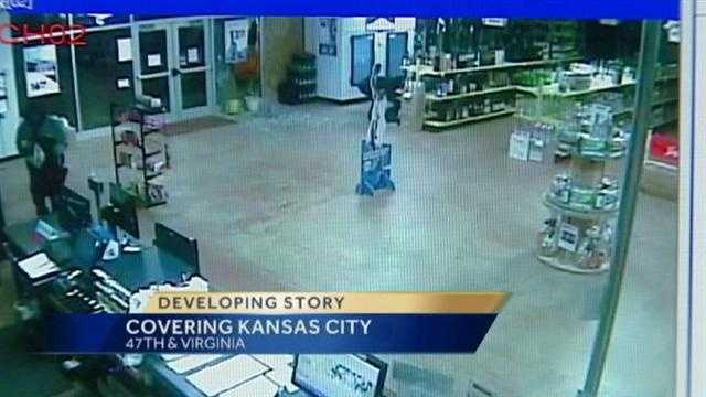 Image Liquor store breakin