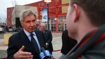 "Harrison Ford, who plays Branch Rickey in ""42"""