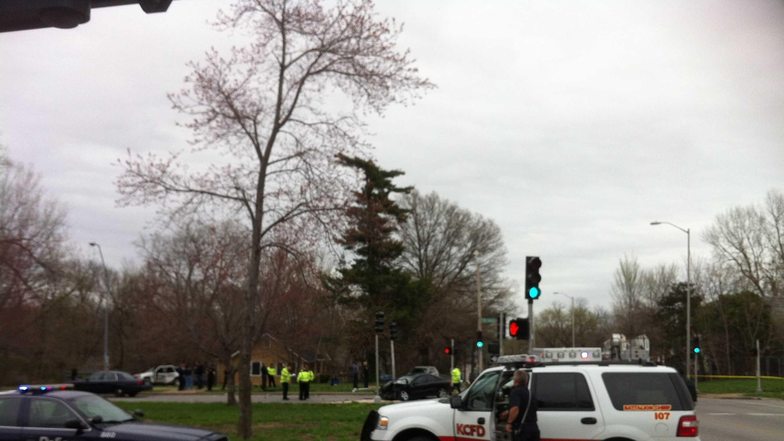 Image 75th and Paseo crash scene