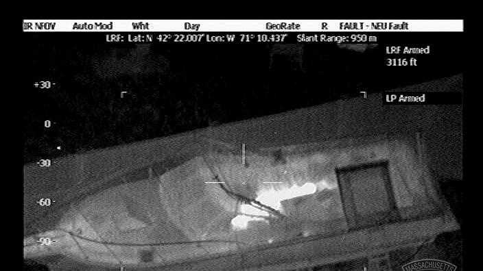 Image Helicopter video of suspect in boat