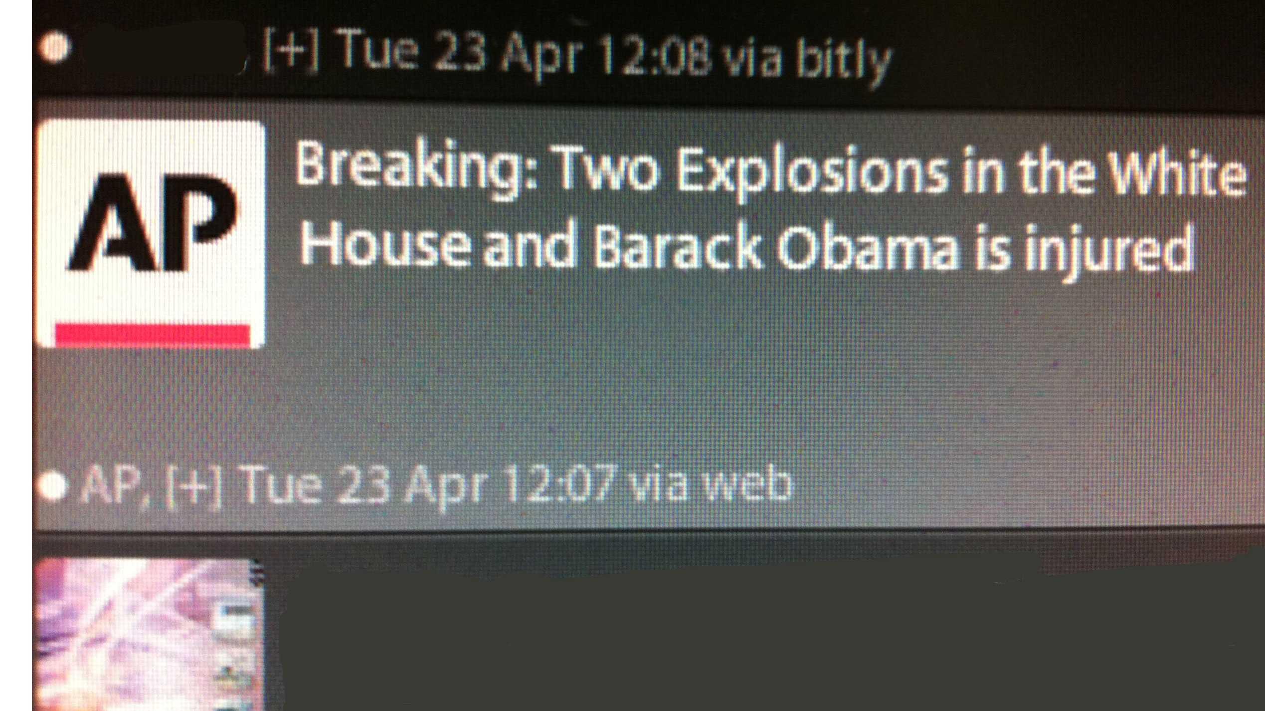 Image AP fake tweet