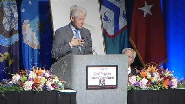 Bill Clinton at podium