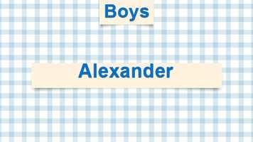 9) Alexander