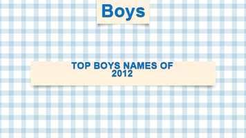 Top boys names of 2012