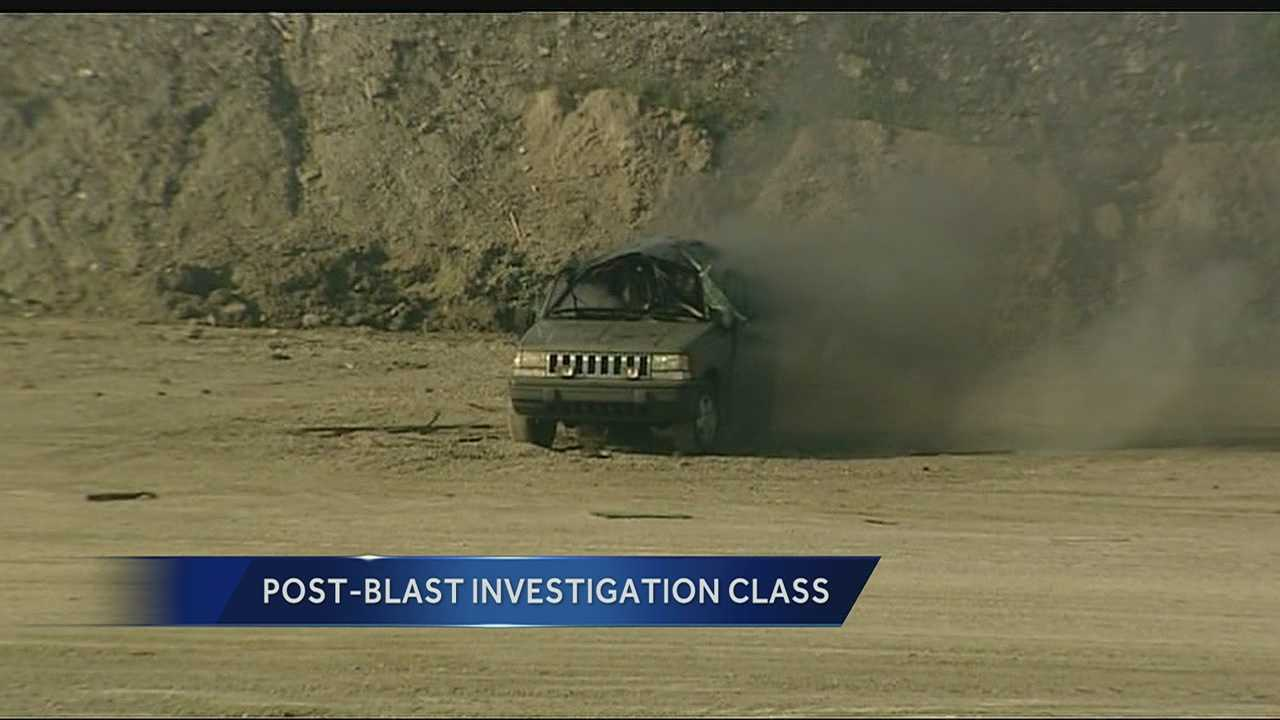 Vehicles blown up to show Olathe FD aftermath of explosion