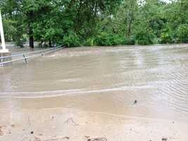 A swollen Indian Creek