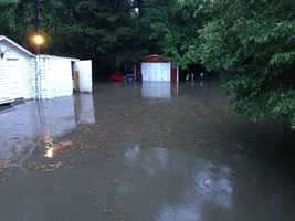 Flooding in Mill Creek Park from Brooke