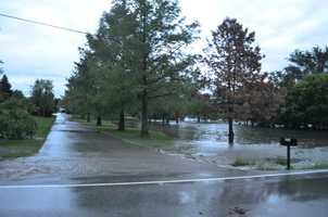 Flooding in Stilwell from Suzanne Frisse