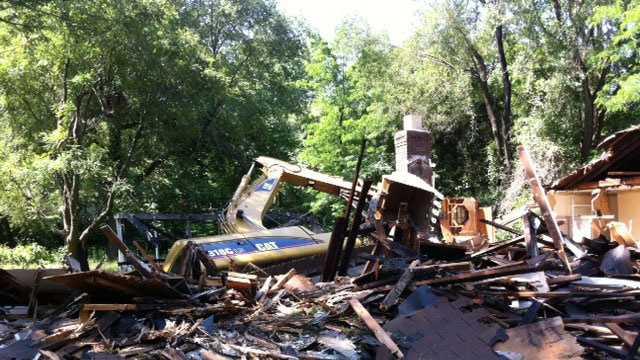 House demolition incident