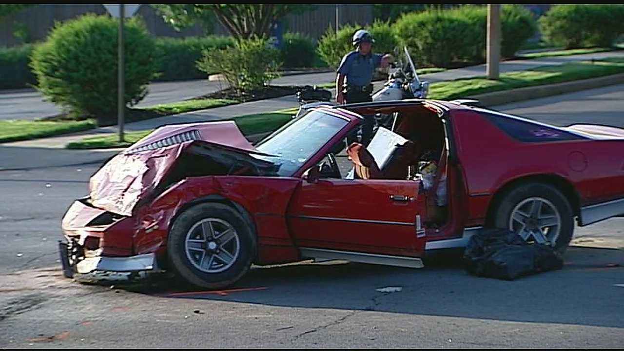 A driver suffered serious injuries after speeding away from an attempted traffic stop and later crashing into an SUV.