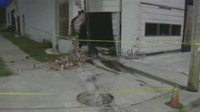 Wreck sends car into building at 12th, Indiana