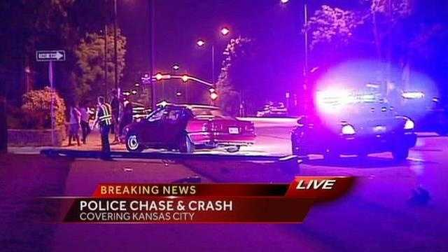 Kansas City police chase ends with crash into bystanders