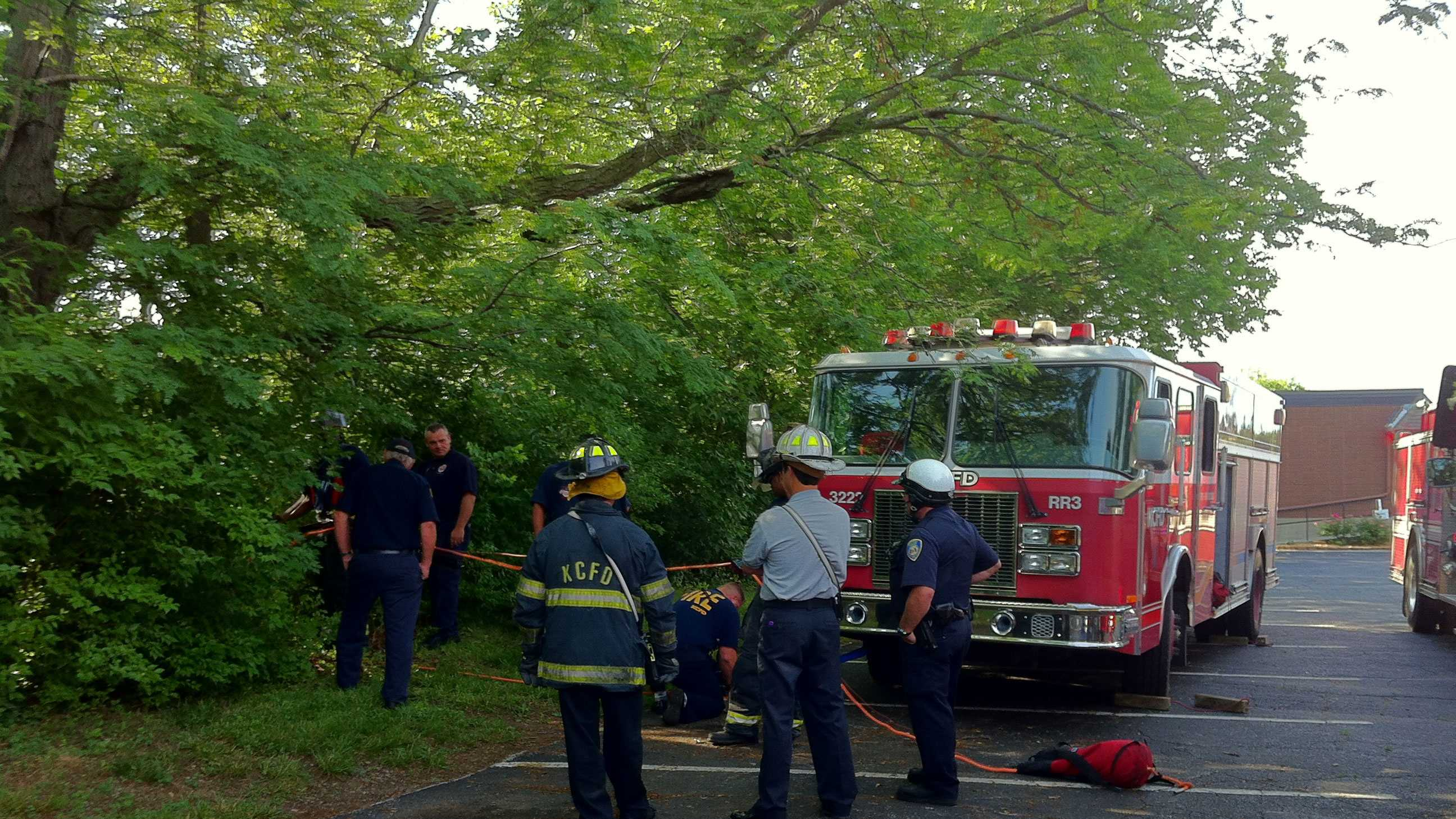 Man rescued from ravine in Raytown