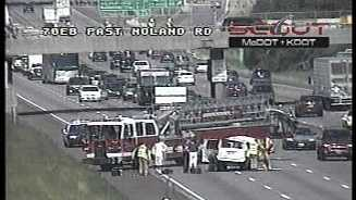 EB I-70, Noland Road crash