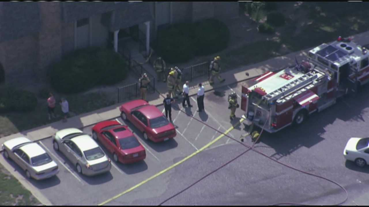 Explosion and small fire reported at apartment in 7600 block of Lucielle