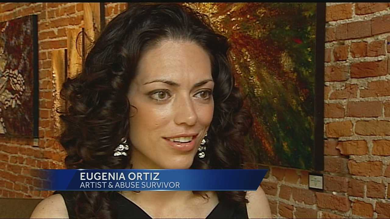 A domestic abuse survivor is using art to help and inspire others.