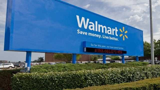 Walmart headquarters sign