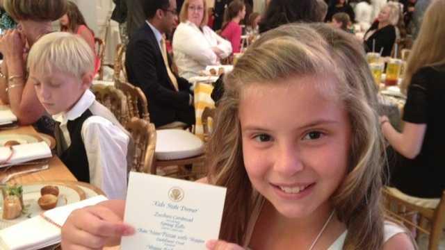 Olivia Neely at White House dinner