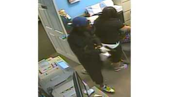 Anyone with information about the robbery or the identity of the two men in the picture is asked to call the Crime Stoppers TIPS Hotline at 816-474-8477.