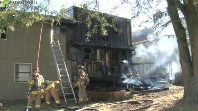 Olathe house fire, 1900 block of East Osage Circle