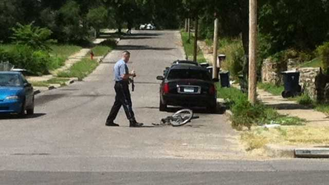 Bicyclist struck at 38th and Olive