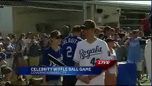 Celebrities come out for Big Slick Wiffle Ball game