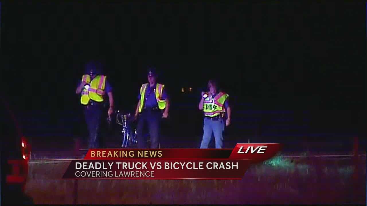 Cyclist struck, killed on K-10 Bypass